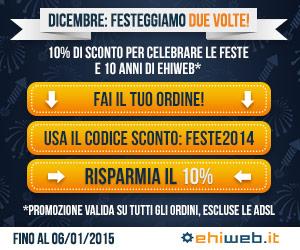 Promozioni Ehiweb Novembre 2014