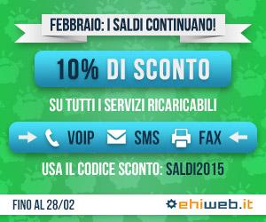 Promozioni Ehiweb Gennaio 2015